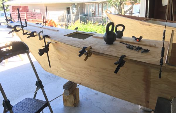 Gluing Fore Deck
